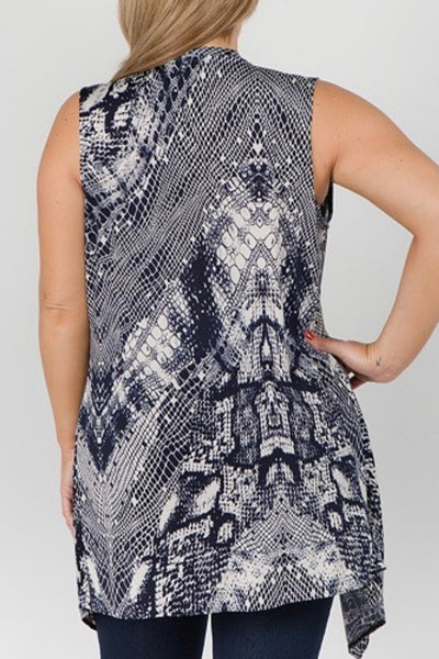 Curvy Patterned Vest