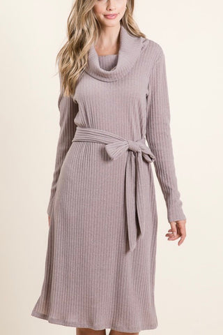 Mocha - Even Better Sweater Dress (S-XL)