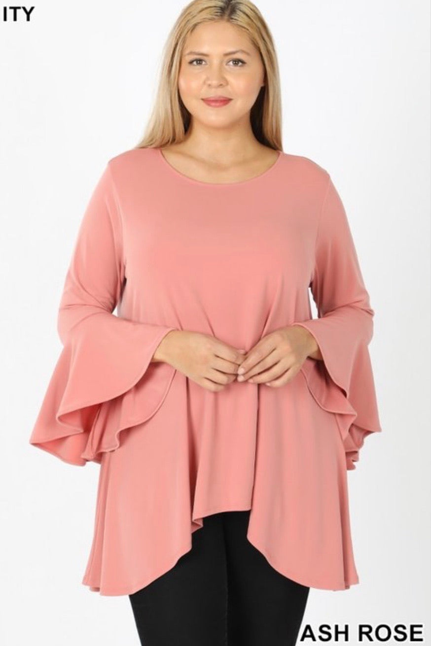 PLUS GiG Bell Tunic - Ash Rose