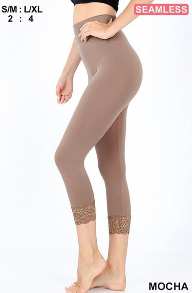 Mocha Lace Tights