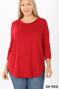 PLUS 3/4 Sleeve GiG Tee (Ruby)
