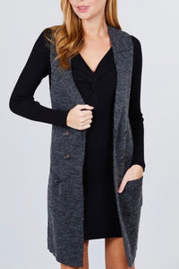 Perfect Sweater Vest (Charcoal)