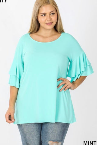 Curvy GiG Double Bell Tee- Mint