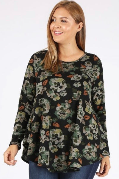 Curvy Fall Floral Top