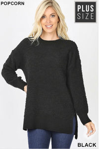 Popcorn Sweater (Black)