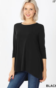 GiG Flowy 3/4 Top Black - (S-XL)