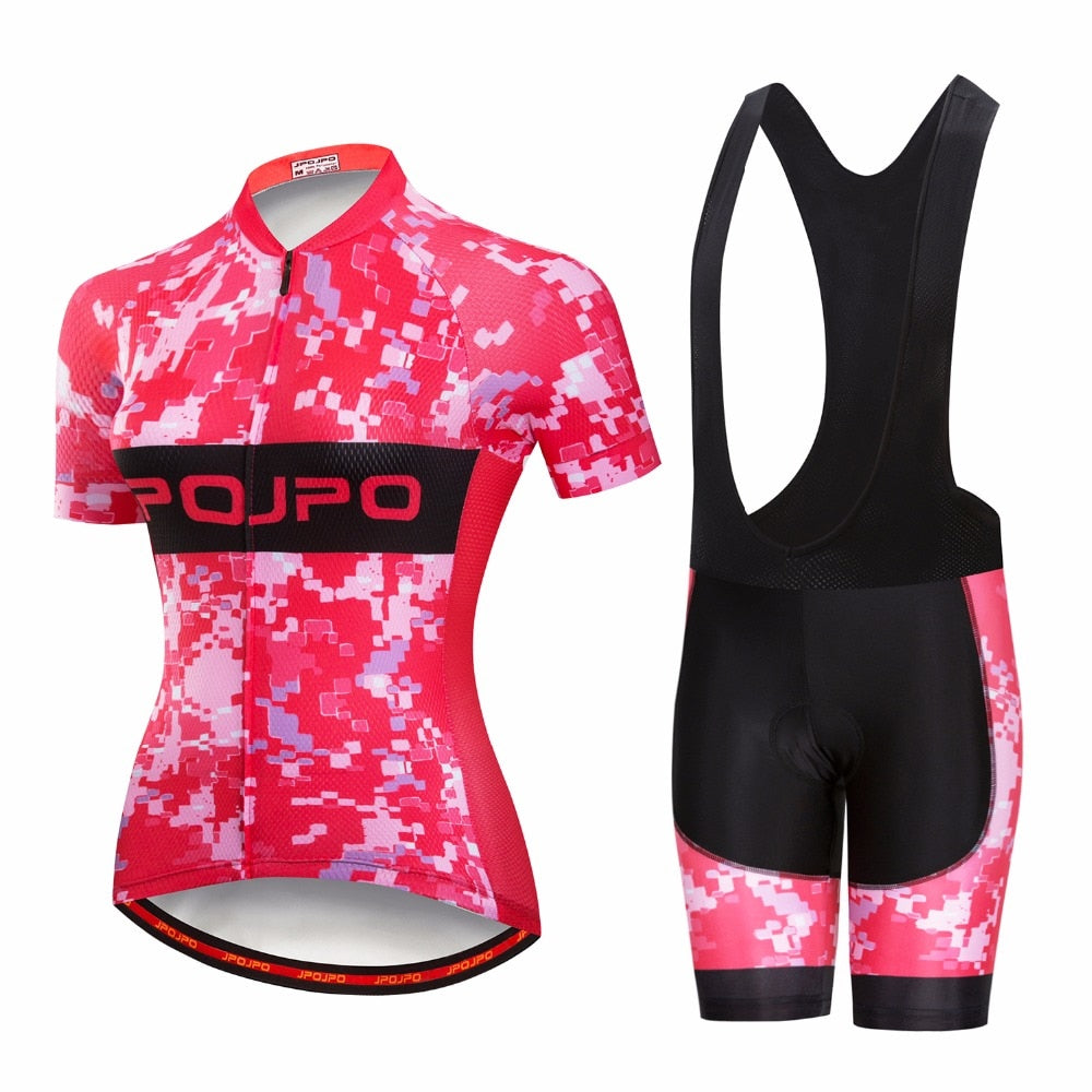 Women Summer Mtb Cycling Clothing Breathable Jersey Sets Bicycle Short Clothes