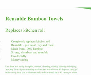 Reusable Bamboo Kitchen Wipes