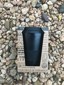Bamboo Reusable Coffee Cup (Black)