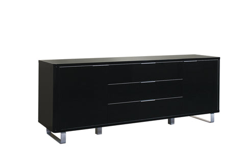High gloss sideboard two cupboards and three drawers- glenwood-furnishings