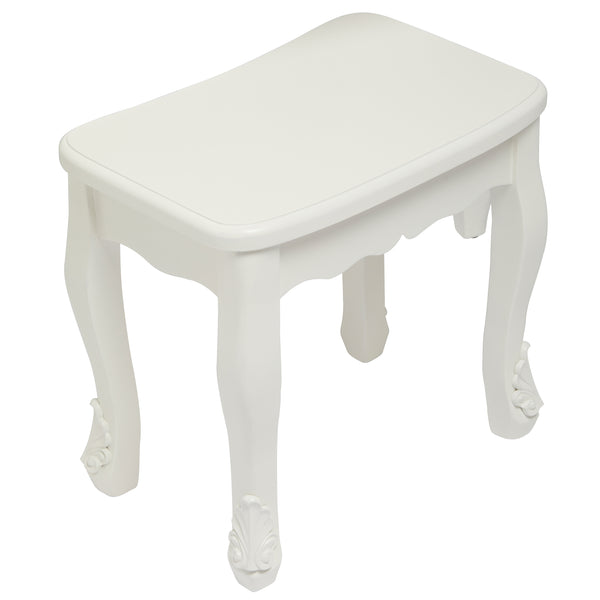 Antoinette Stool In White- glenwood-furnishings