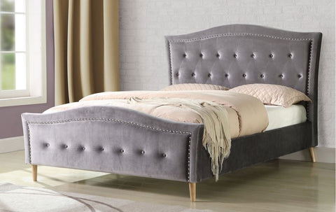 Austin Fabric Buttoned bed - glenwood-furnishings