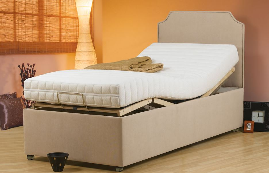 Brighton electric adjustable beds room view  - glenwood-furnishings