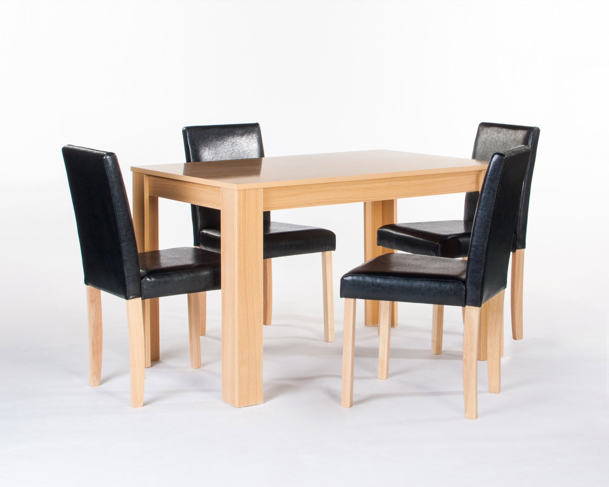 Cambridge table and chairs in oak colour- glenwood-furnishings