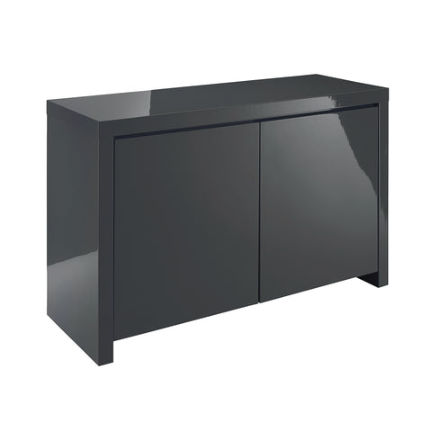 puro charcoal two door sideboard