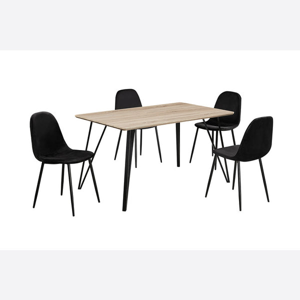 Genoa Dining Set - Black