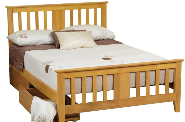 Kestral Bed Frame oak- glenwood-furnishings