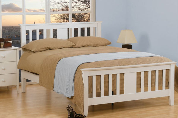 Kestral Bed Frame white- glenwood-furnishings