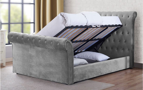 Maxine Ottoman bed open- glenwood-furnishings