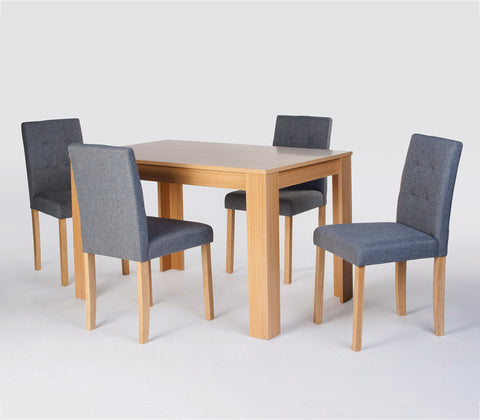 Norfolk Dining Set in oak finish - glenwood-furnishings