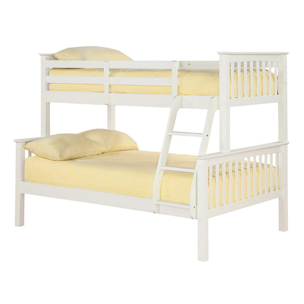 Otto Trio Bunk Bed - Pine/Navy/White