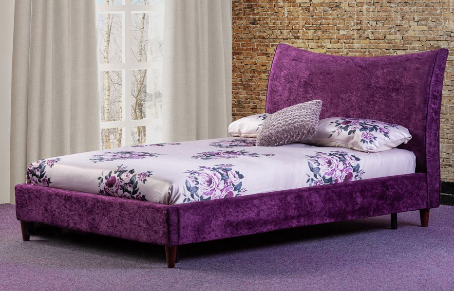 Poppy fabric bed room scene- glenwood-furnishings