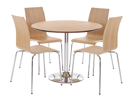 Soho Contemporary table and chairs light oak colour- glenwood-furnishings