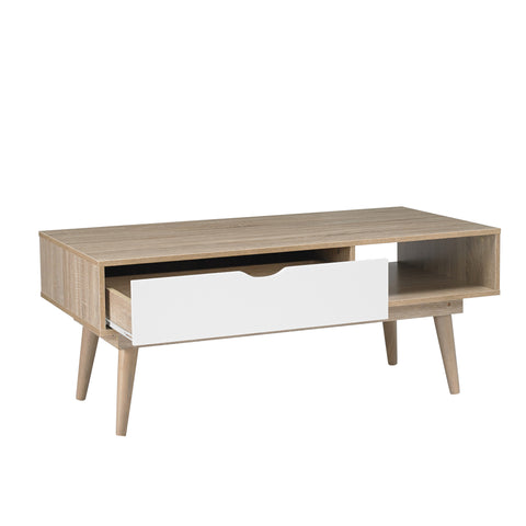 Scandi coffee table with drawer- glenwood-furnishings