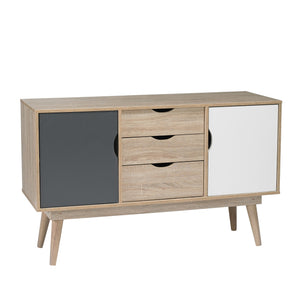 Scandi sideboard Grey white and oak-glenwood furnishings