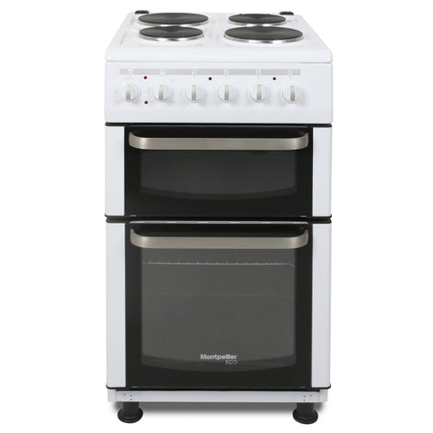 Montpellier Eco TCE51W 50cm Twin Cavity Electric Cooker