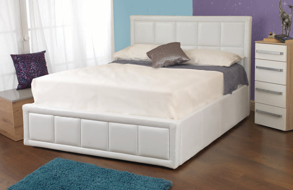 Tern ottoman bed in white - glenwood-furnishings