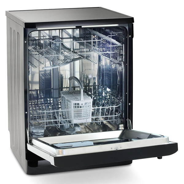 Montpellier DW1254P Freestanding Full Size Dishwasher - Black