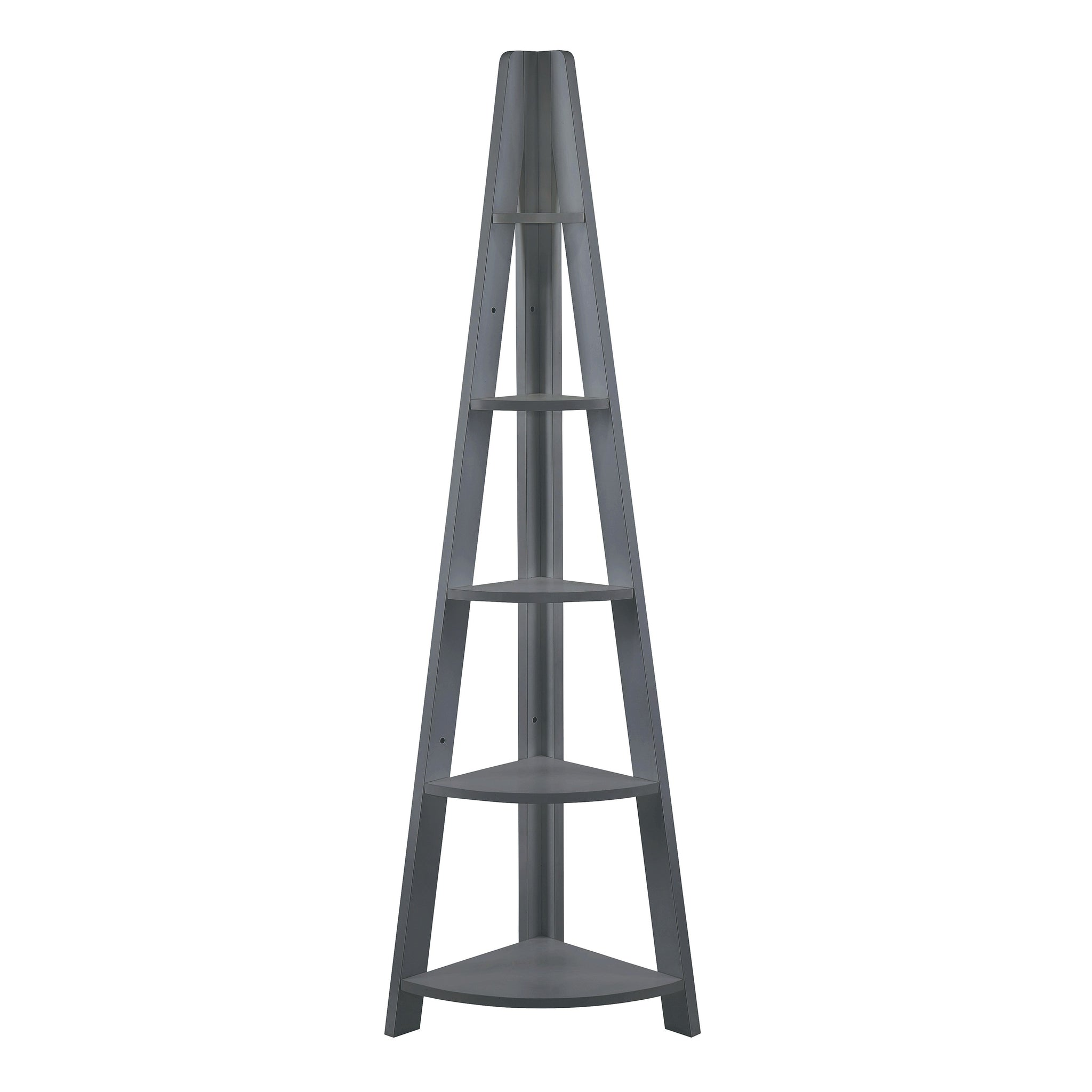 Tiva Corner Ladder Shelving (available in Oak, White & Black)