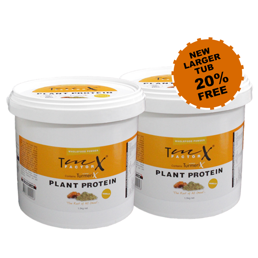 2x TmX Factor Plant Protein 1.50kg Tub (save $20)