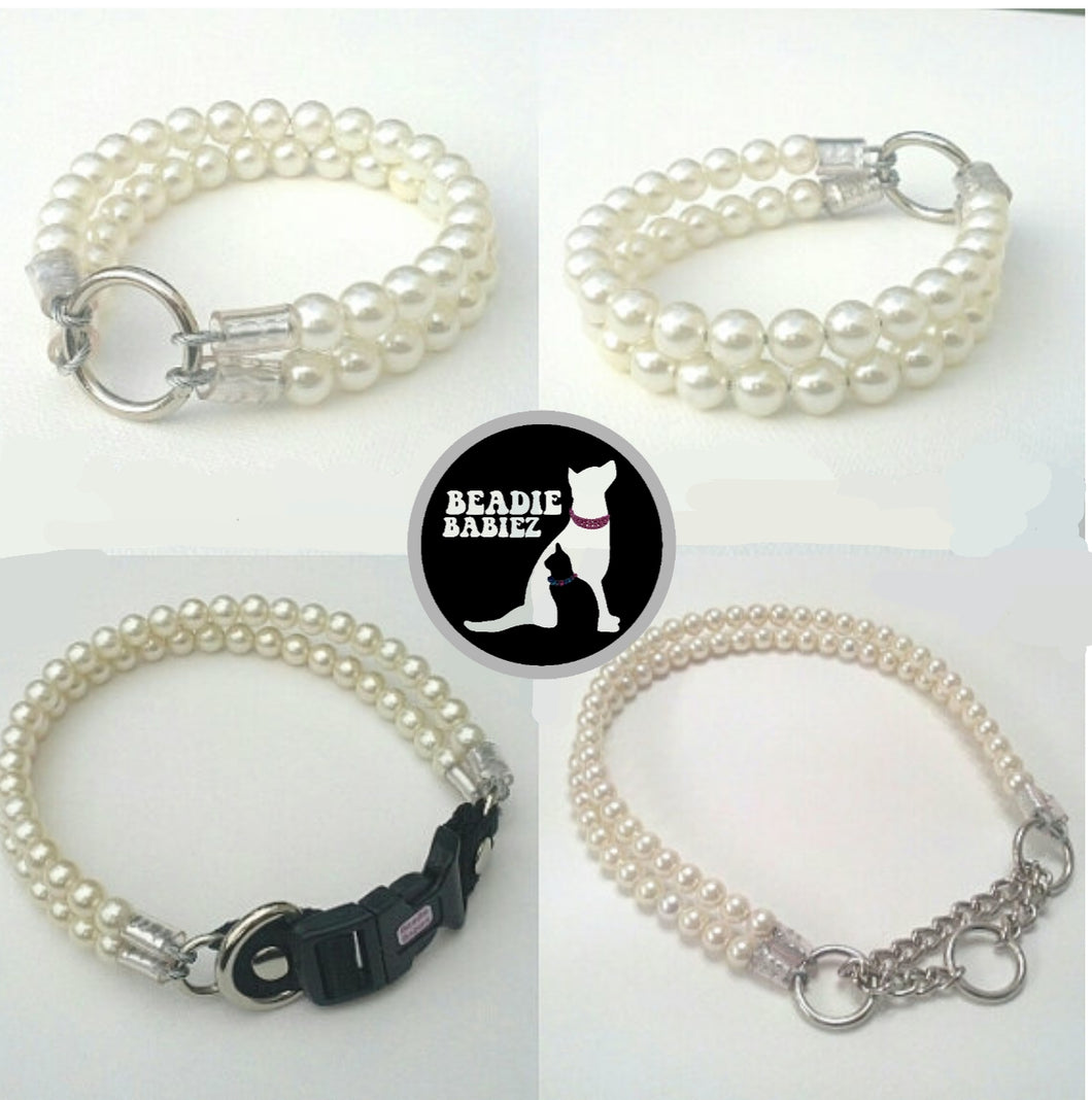 Double Strand Ivory Pearl Collar