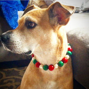 Christmas with ivory Pearl Bead Collar