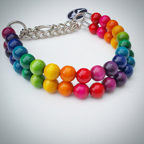 Double Rainbow Bead Collar