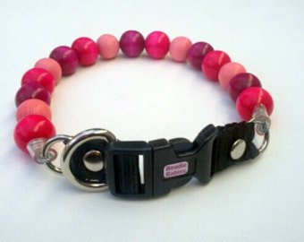 Pink and Magenta Bead Collar