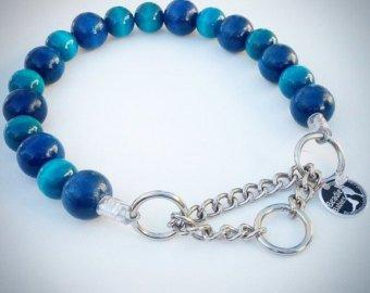 Blue and Turquoise Bead Collar