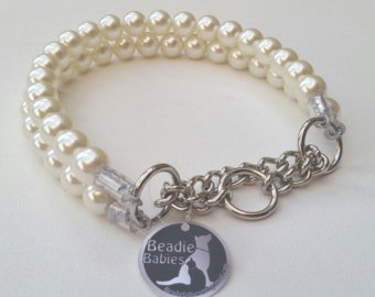 Double Strand Chunky Ivory Pearl Collar