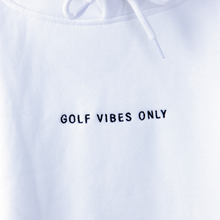 "Load image into Gallery viewer, ""GOLF VIBES ONLY"" Sweater - White"