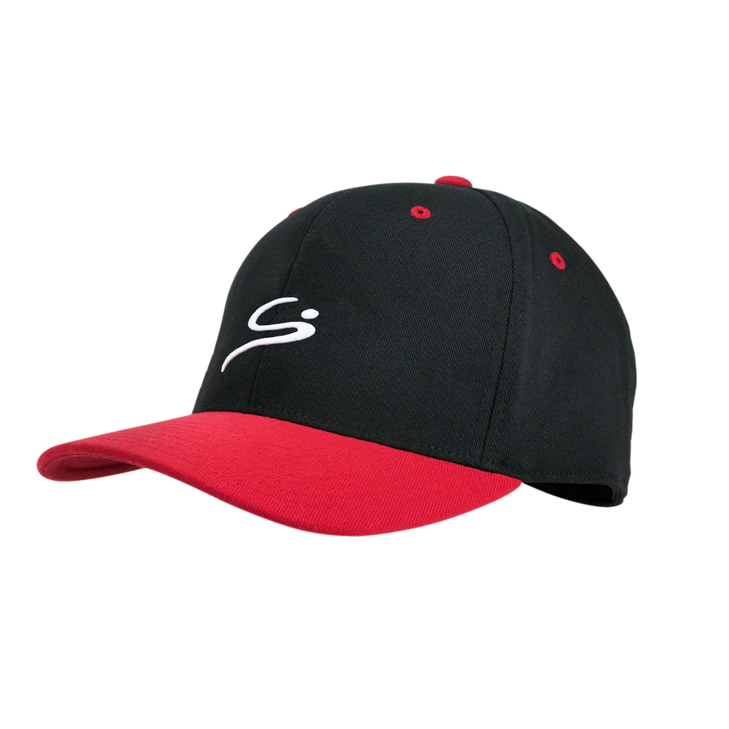 STORYi Casual Sports Hat (Black&Red Hat/White Logo)