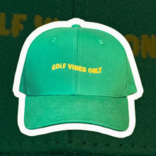 "Load image into Gallery viewer, ""Wavy Golf Vibes Only"" Master's Theme Golf Performance Hat"