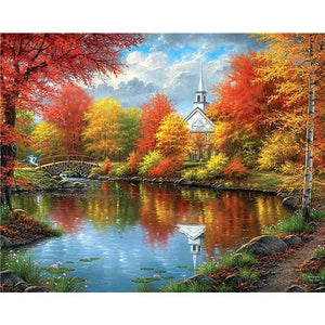Herfst Bomen | Diamond Painting