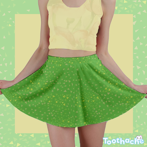 The Grass is Greener on My Island Mini Skirt