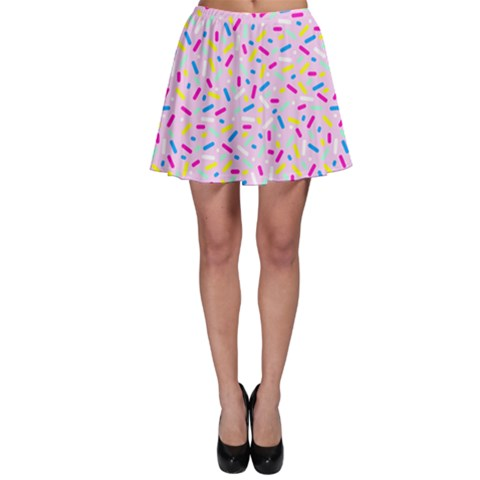 Sprinkle Party Skater Skirt - Strawberry
