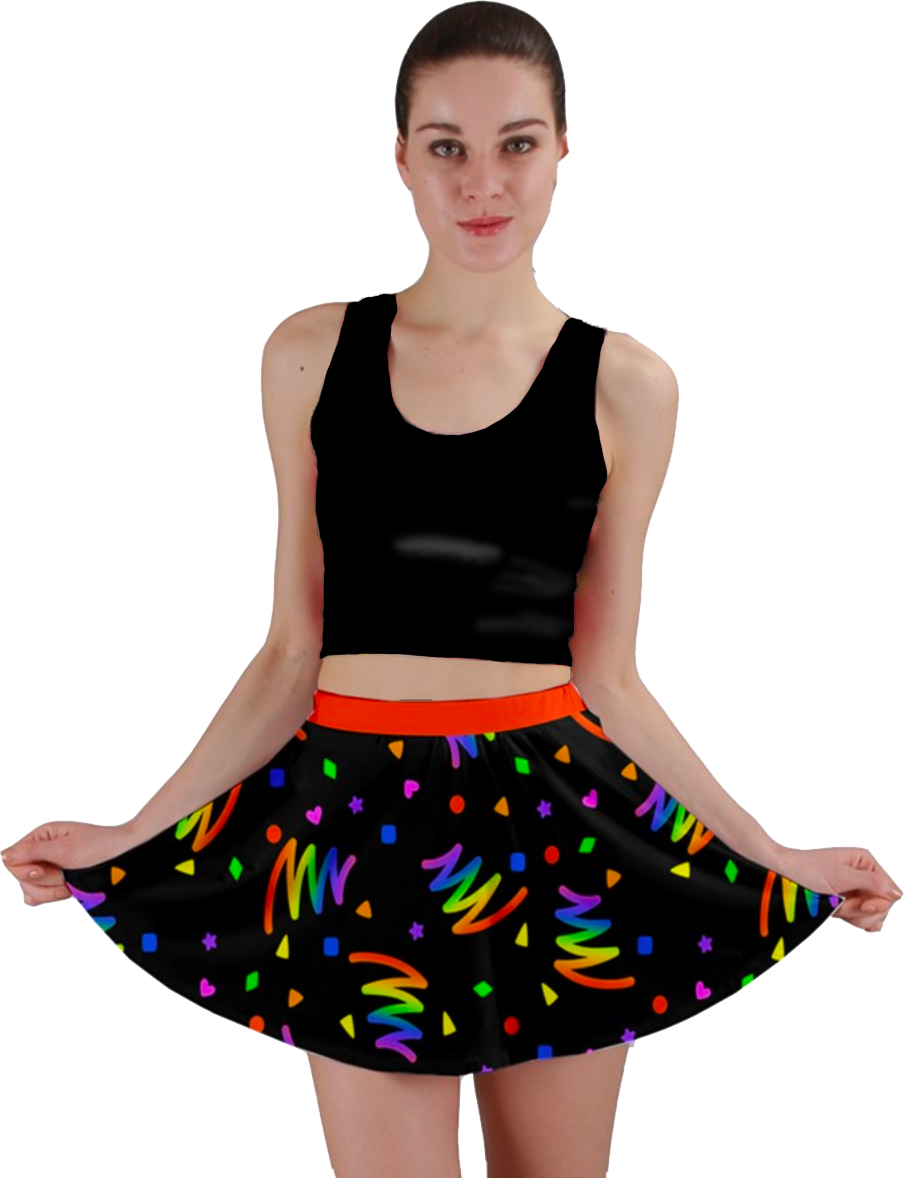 Mini skirts from90 Neon Bold Bowling Alley Vibes Mini Skirt In Black Toothache