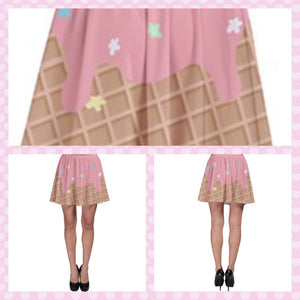 Melty Ice Cream Skater Skirt