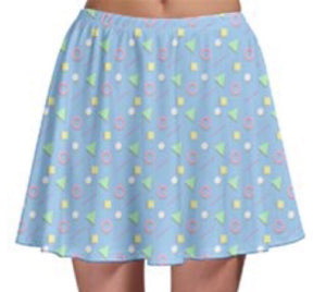 90s Party Skater Skirt - Blue