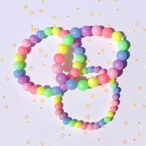 Pastel Mini Gum Ball Bracelet Trio